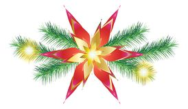 2019 Garland Winter Holiday Happy New Year Christmas Decoration STAR vector illustration