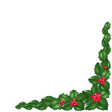 Garland From Holly Berry. Vector Stock Photos