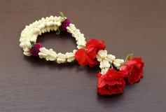 Garland of jasmine flower Stock Photo