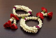 Garland of jasmines flower Stock Photo