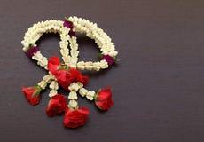 Garland of jasmines flower Stock Images