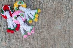 Garland knitting Royalty Free Stock Photo