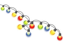 Garland Lamp Bulbs Festive colorido ilustração stock