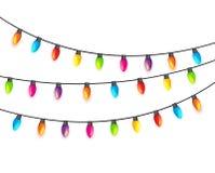 Garland Lamp Bulbs Festive Isolated multicolore illustration de vecteur