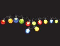 Garland Lamp Bulbs Festive Isolated multicolore illustration libre de droits