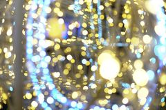 Garland lights Bokeh texture background different colors Royalty Free Stock Images