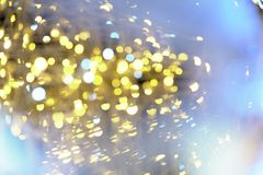 Garland lights Bokeh texture background different colors Royalty Free Stock Photo