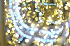 Garland lights Bokeh texture background different colors Stock Images
