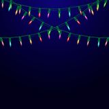 Garland with lights. Christmas background. Stock Photo
