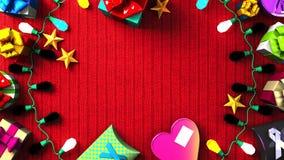 Garland Lights und bunte Geschenkboxen vektor abbildung
