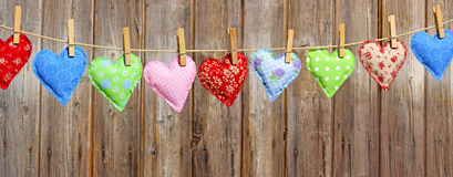 Garland of love hearts Royalty Free Stock Image