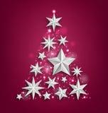 Garland Made astratto delle stelle d'argento per il buon anno 2017 illustrazione vettoriale