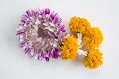 Garland market flower floral buddhism nature concept Stock Image