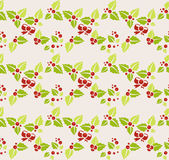 Garland of mistletoe. Seamless background Royalty Free Stock Photo