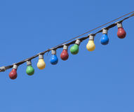 Free Garland Of Colored Light Bulbs Royalty Free Stock Images - 19431689