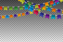 Garland With Party Flags coloré Illustration de vecteur Images libres de droits