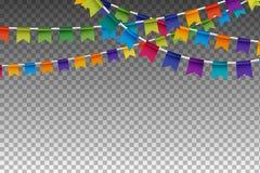 Garland With Party Flags colorido Ilustración del vector Libre Illustration