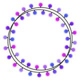 Garland with purple light bulbs on a white background. Vector illustration Royalty Free Stock Photo