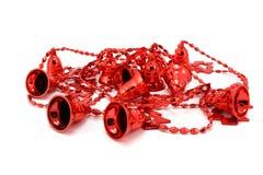 Garland of red bells Stock Photos