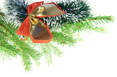 Garland with red bow Stock Photo