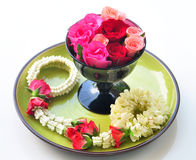 Spa rose garland of thailand Stock Photos