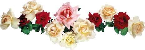 Garland of roses. Royalty Free Stock Photo