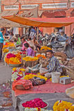 Garland Sellers in Jaipur, India Royalty Free Stock Photo
