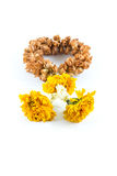 Garland of sere vertical  on white background Royalty Free Stock Image