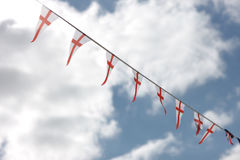 Garland of signal pennants Stock Image