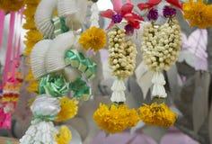Garland spiritual decoration flower worship concept Stock Photos