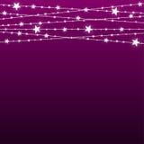 Garland Star Bulbs Stars La Navidad del Año Nuevo Imagen de archivo libre de regalías