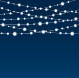 Garland Star Bulbs Stars Natale del nuovo anno Immagine Stock