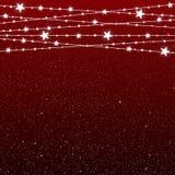 Garland Star Bulbs Stars Natale del nuovo anno Fotografia Stock Libera da Diritti