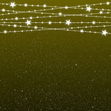Garland Star Bulbs Stars. New Year Christmas. Stock Photos
