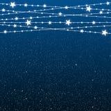 Garland Star Bulbs Stars Noël de nouvelle année illustration de vecteur