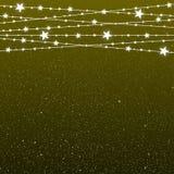 Garland Star Bulbs Stars Noël de nouvelle année illustration libre de droits
