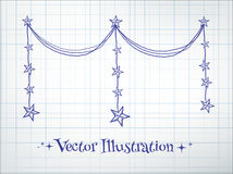Garland with stars Royalty Free Stock Photos