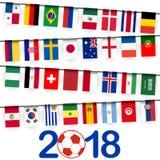 garland teams russian soccer game Royalty Free Stock Image