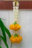 Garland. Thai garland to offer in Buddhism religion stock photos
