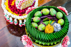 Garland for Thai wedding ceremony. Stock Photo