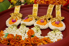 Garland for wedding or buddha Royalty Free Stock Images