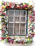 Garland Window Arkivbilder