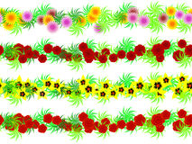 Garlands. Seamless garlands of colors in a vector Stock Image