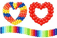 Garlands Of Balloons. Vector Stock Image