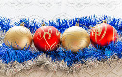 Garlands and balls Royalty Free Stock Images