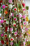 Garlands of beautiful flowers for hairstyles Royalty Free Stock Images
