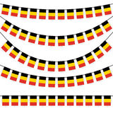 garlands with belgium national colors Stock Photo