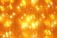 Garlands bulb lights. As attractive holiday background Royalty Free Stock Images