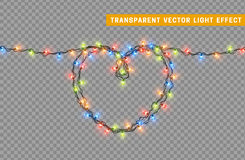 Garlands, Christmas decorations lights effects. Royalty Free Stock Photography