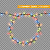 Garlands, Christmas decorations lights effects. Stock Photos